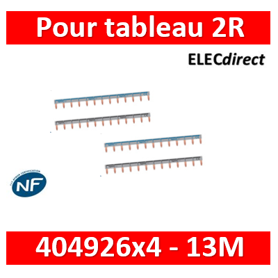 Legrand - Peignes d'alimentation 13 Modules Universel PH + N - 404926x4