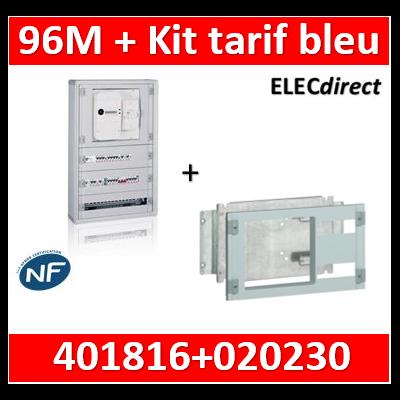 Legrand - Coffret 96 modules - avec espace dédié - XL3 160 + kit tarif bleu - 401816+020230