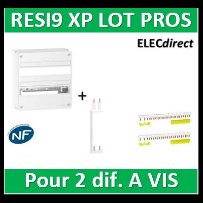Schneider - Resi9 - coffret 18M - 2R 36M + Peignes H. et V. - R9H18402+R9PXV+R9PXH218x2