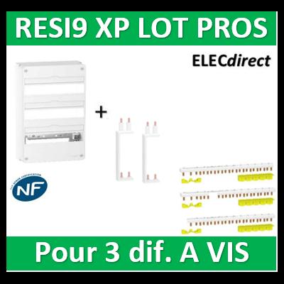Schneider - Resi9 - coffret 18M - 3R - 54M + Peignes H. et V. - R9H18403+R9PXVx2+R9PXH218x3