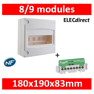 Legrand - Coffret cache-bornes 8/9 Modules - 001308