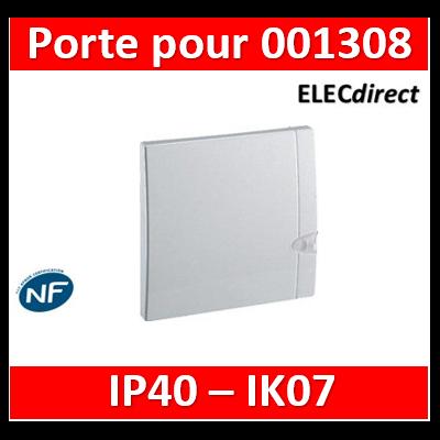 Legrand - Porte IP40 IK07 pour coffret capacité mini 8 à 9 modules - blanc RAL9010  - 001328