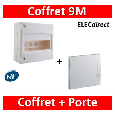 Legrand - Coffret cache-bornes 8/9 Modules + porte opaque - 001308+001328