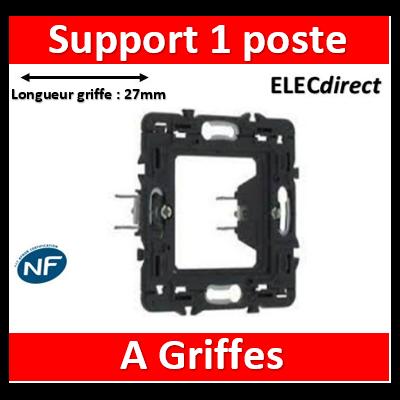 Legrand - Support 1 poste (2M) -  Mosaic/Céliane à griffes - 080261
