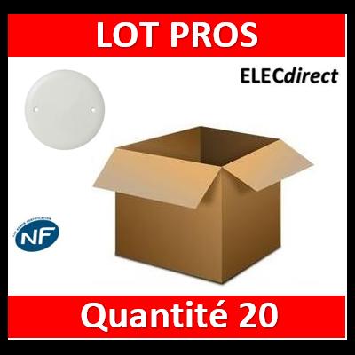 Legrand Batibox - Couvercle universel D85mm - pour boîte 1 poste - 080180x20