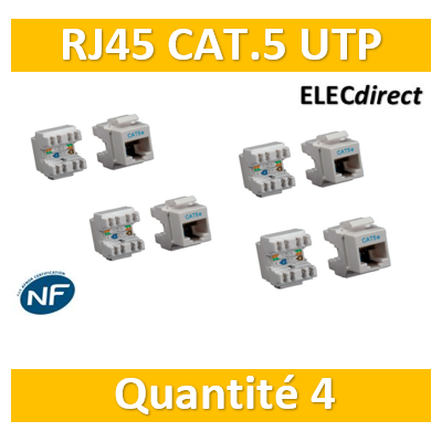 Casanova - Connecteur RJ45 Cat5e UTP - Universel - H81116UXx4