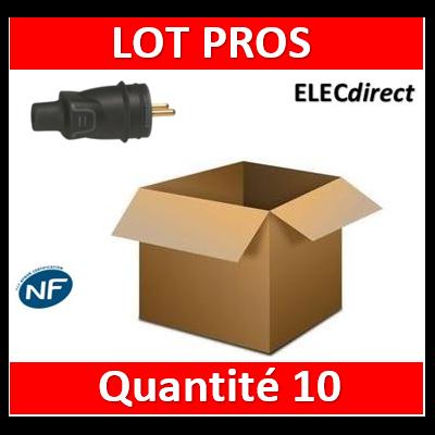 Legrand - Fiche 2P+T 16A - caout - IP44 / IK08 - sortie droite - 050445x10