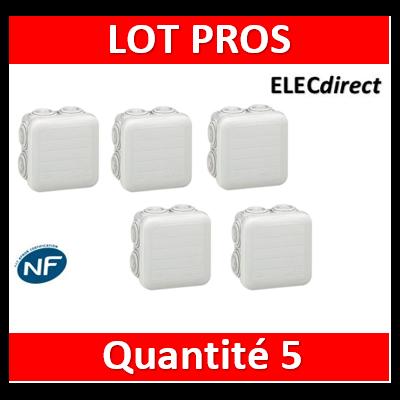Legrand - Boîte de dérivation étanche IP55 - 65x65x40 - 092005x5