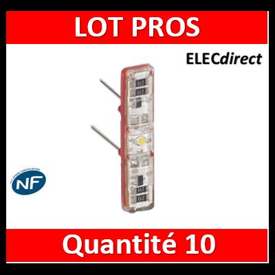 Legrand - Voyant Témoin LED Prog. Céliane/Mosaic 230V - 067688x10