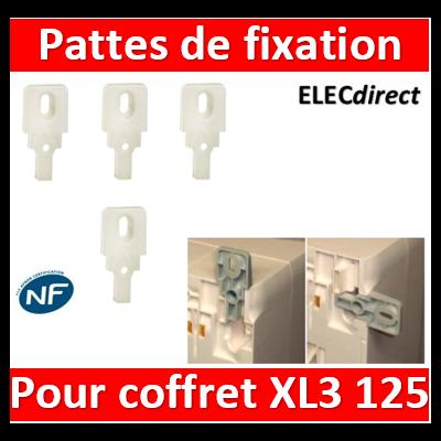 Legrand - Pattes de fixation (4) - pour coffrets xl³ 125 - 401856