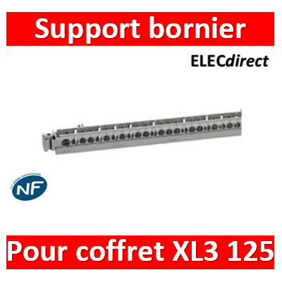 Legrand - Support de borniers - vide - 50 trous - pr coffrets Plexo³ 18 modules et XL³ 125 - 404821