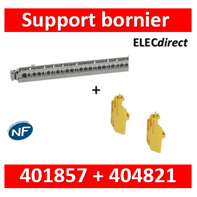 Legrand - Support de borniers - vide - 50 trous - pr coffrets Plexo³ 18 modules et XL³ 125 + borniers - 404821+401857