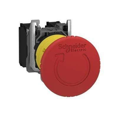 Schneider - Harmony arrêt d'urgence rouge Ø22 tête Ø 40 tourner pourdéverrouiller 1O+1F - XB5AS8445