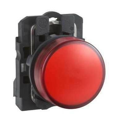 Schneider - Harmony voyant rond Ø22 - IP66 - rouge - LED intégrée - 240V - XB5AVM4
