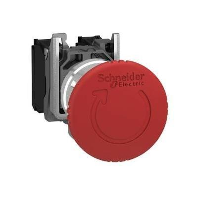 Schneider - Harmony arrêt d'urgence rouge Ø22 tête Ø 40 tourner pourdéverrouiller 1O+1F - XB4BS8445