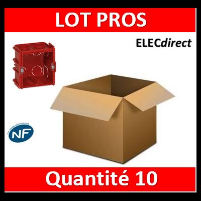 Legrand - Boîte monoposte Batibox - maçonnerie - carrée associable - prof. 60 - 080161x10