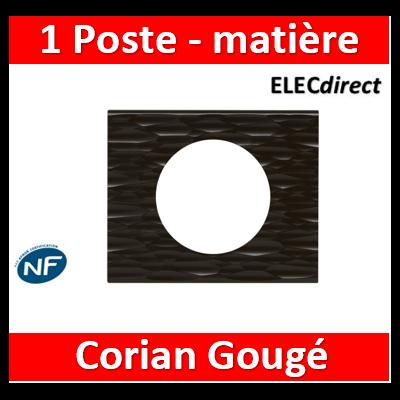 Legrand Céliane -  Plaque Céliane Matières 1 poste - finition Corian Gougé - 069021