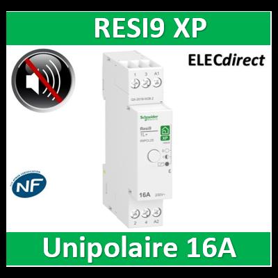 Schneider - Télérupteur RESI9 XP - Unipolaire 16A - 250V - Silencieux - R9PCL2S