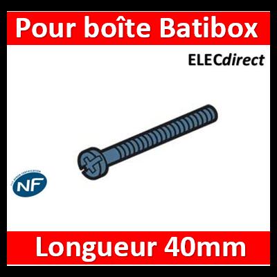 Legrand - Vis longue pour toutes boîtes Legrand Batibox par 20 - Ø3 mm - Long. 40 mm - 080197