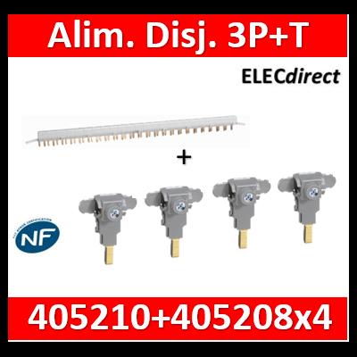 Peigne d'alimentation tétrapolaire pour produit à vis HX³ horizontal optimisé + bornes - 24m - 405210+405208x4