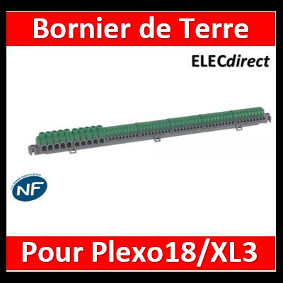 Legrand - Bornier IP2X à connexion automatique pour coffret Plexo³ 18M et XL³125 et XL³160 - longueur 385mm - 005054