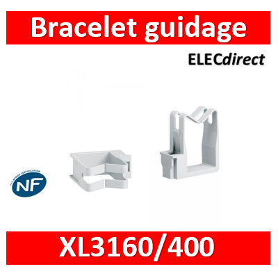 Legrand - Bracelet de guidage de filerie XL3 160/400 - circulation verticale - 020093