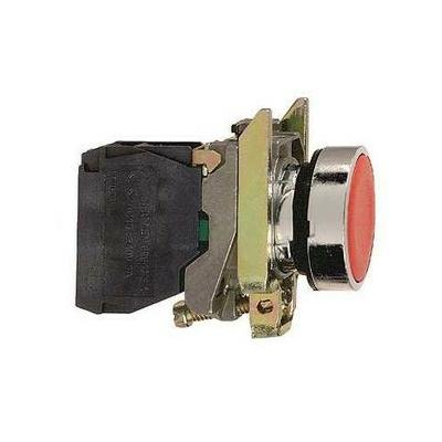 Schneider - Harmony bouton-poussoir rouge Ø22 - à impulsion affleurant - 1O - XB4BA42