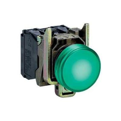 Schneider - Voyant lumineux Harmony rond Ø22 - IP66 - vert - LED intégrée - 24V - XB4BVB3