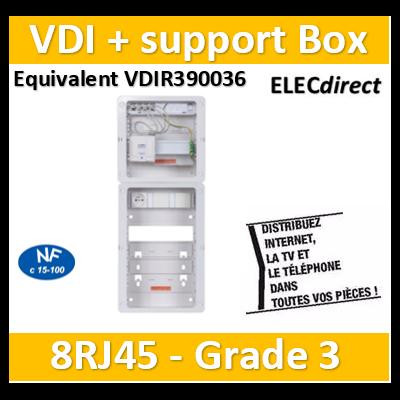 Casanova - Tableau C-Start 625 - 8RJ45 Grade 3 TV équipé DTI + Support Box- 2 coiffes + PC - CST625G3CUC-SLD