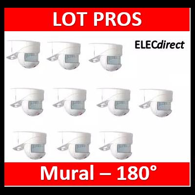 B.E.G - Détecteur de mouvement avec zone de détection 140° et 180° - Mural - Blanc - 91001x10