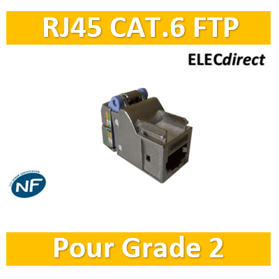Casanova - Connecteur FTP blindé Grade 2 - Cat. 6 - Footprint Casanova - H80116X