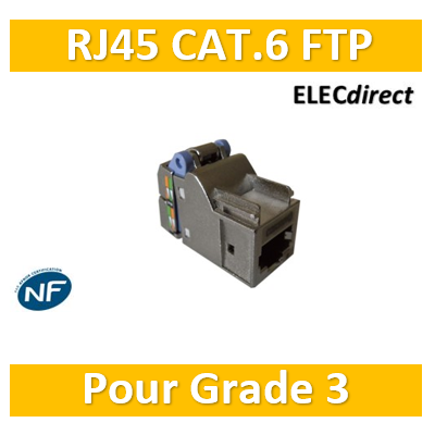 Casanova - Connecteur FTP blindé Grade 3 - Cat. 6 - Footprint Casanova - H80116AXS