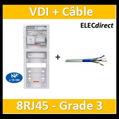 Casanova - Tableau C-Start 625 - 8RJ45 Grade 3 TV équipé DTI + Support + PC + Câble 900mhz 100m - CST625G3CUC+Câble