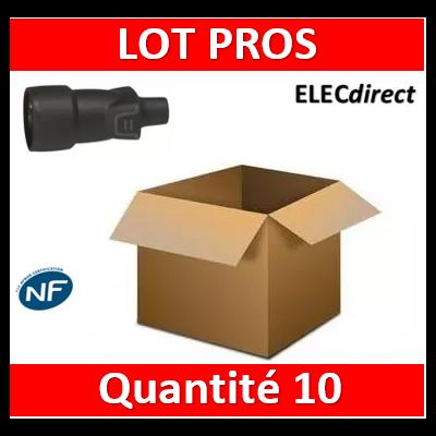 Legrand - Prolongateur 16A - caout - IP44 / IK08 - sortie droite - 050446x10