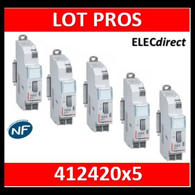 Legrand - Télérupteur CX3 - Unipolaire 16A - 230V - AUTO - 412420x5