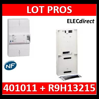 Legrand - Disjoncteur de branchement EDF 30/60A instantané + platine disjoncteur tripolaire Schneider - 401011+R9H13215