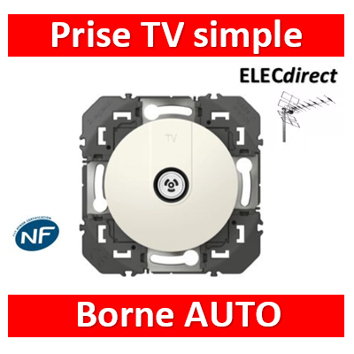 Legrand - Prise TV simple étoile blindée dooxie finition blanc  - 600351