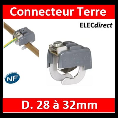 Legrand - Connecteur de liaison équipotentielle 28/32 mm - 034387