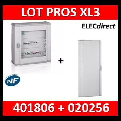 Legrand - Coffret de distribution 144 modules - 6 rangées de 24M + porte Galbée- XL3 160 - 401806+020256