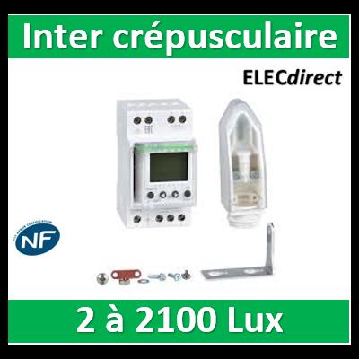 Schneider Electric - Interrupteur Crépusculaire Programmable Ic2000P+ avec Cellule Murale - 15483