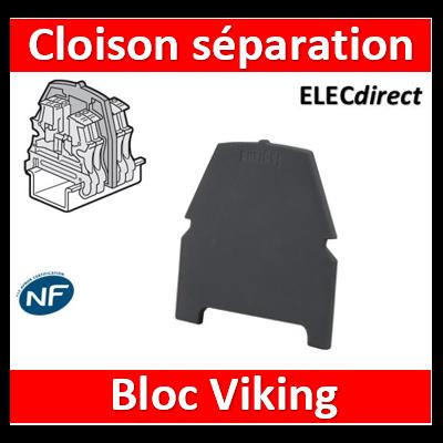 Legrand - Cloison de séparation et d'isolement - Bloc de jonction Viking 3 vis - 1entrée/1sortie/pas 5,6,8,10 - 037560