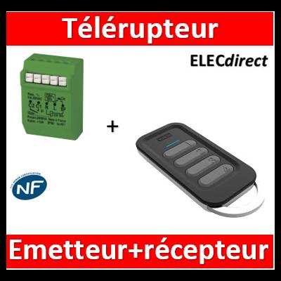 Yokis - Télérupteur Temporisé 2000W Gamme Radio Power + télécommande - MTR2000ERP+TLC4CP