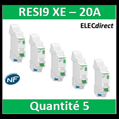 SCHNEIDER DISJONCTEUR RESI9 AUTO XE - 20A - EMBROCHABLE - R9EFC620x5