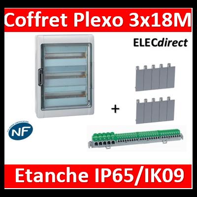 Legrand - Coffret étanche Plexo 54 modules - 3 rangées - IP65/IK09 - 001926