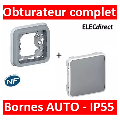 Legrand Plexo - Obturateur complet encastrable - IP55/IK07- 069537+069681