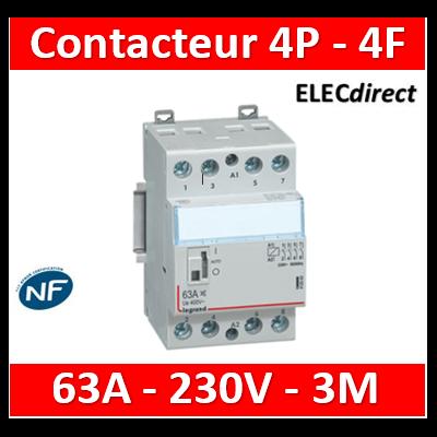 Legrand - Contacteur de puissance 4P bobine 230V - 63A - 4F - 3M - 412563