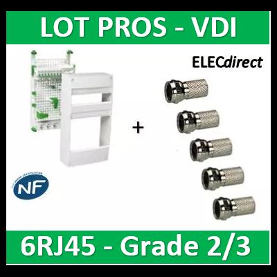 Schneider - Coffret communication avec emplacement BOX Grade 2 et 3 - VDIR390036+5 Fiches F