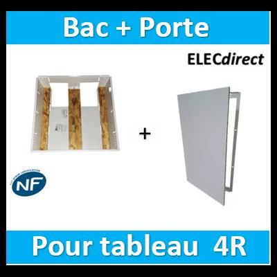 SIB - Coffret métallique profondeur 180mm 4 rangées + platine + coffret com. + porte - P06404+P06414