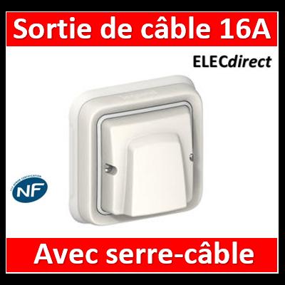 Legrand Plexo - Sortie de câble encastré - 16A - 230V - IP55/IK08 - Blanc - 069888