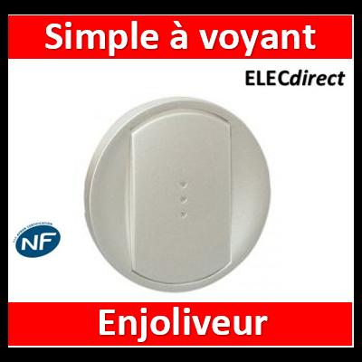 Legrand Céliane - Enjoliveur simple allumage pour commande éclairage Titane - 068303